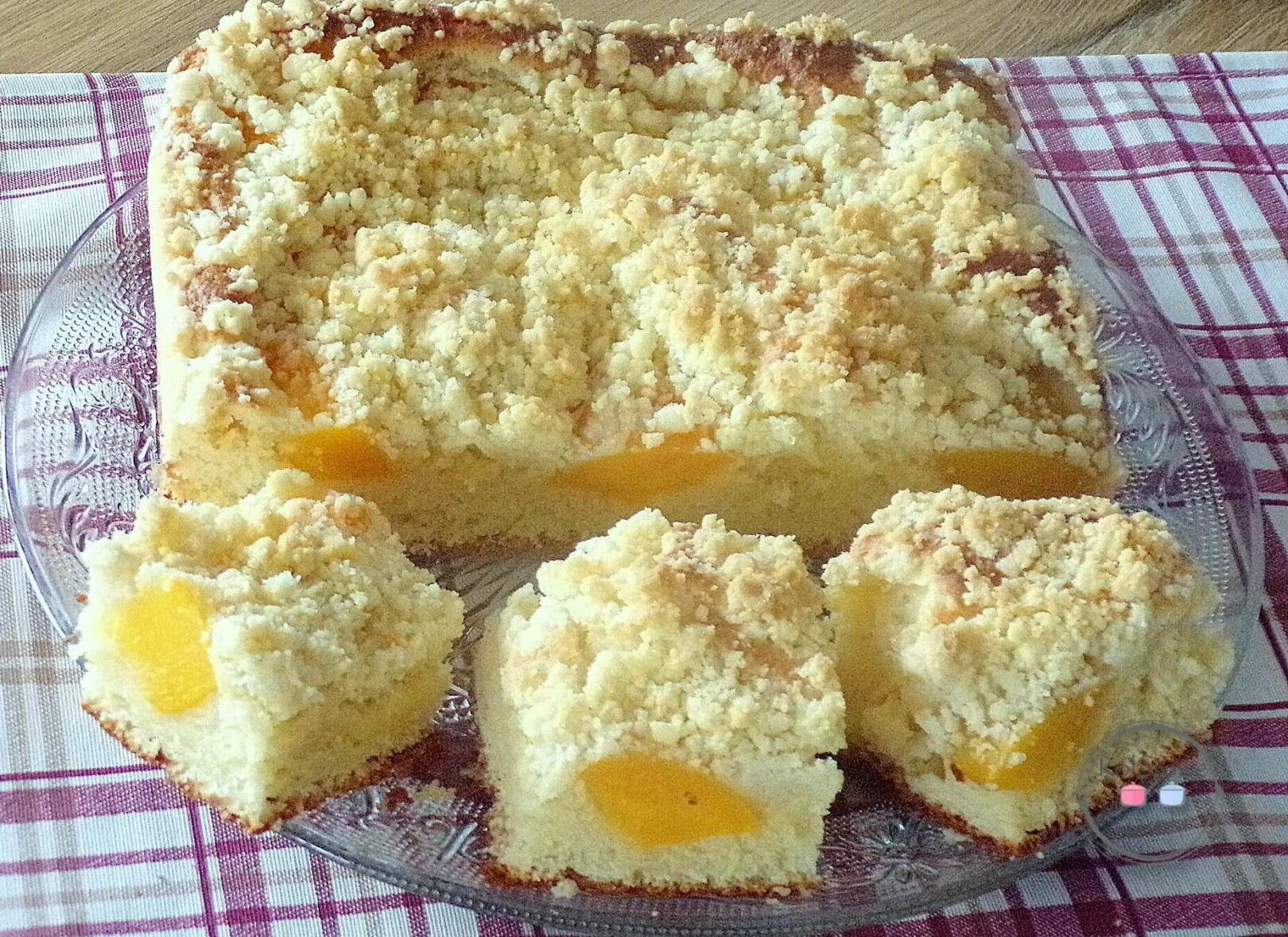 Ciasto drożdżowe z brzoskwiniami- przepis
