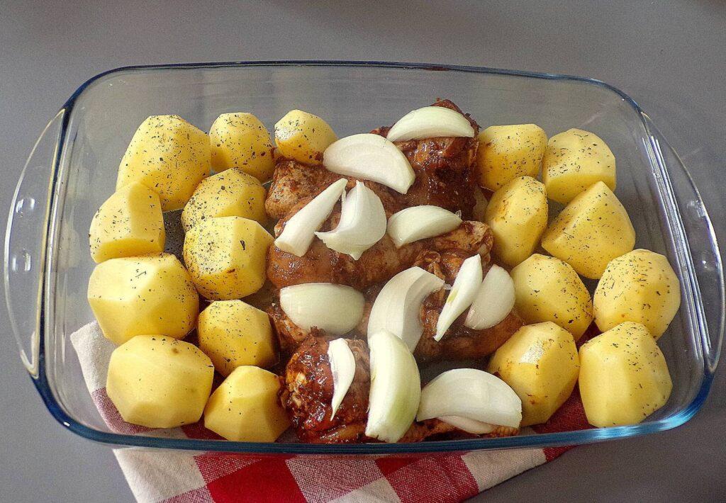 pieczone pałki z ziemniakami