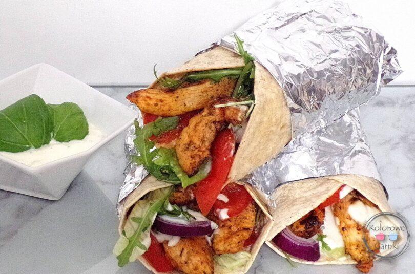 domowy kebab w tortilli – Przepis