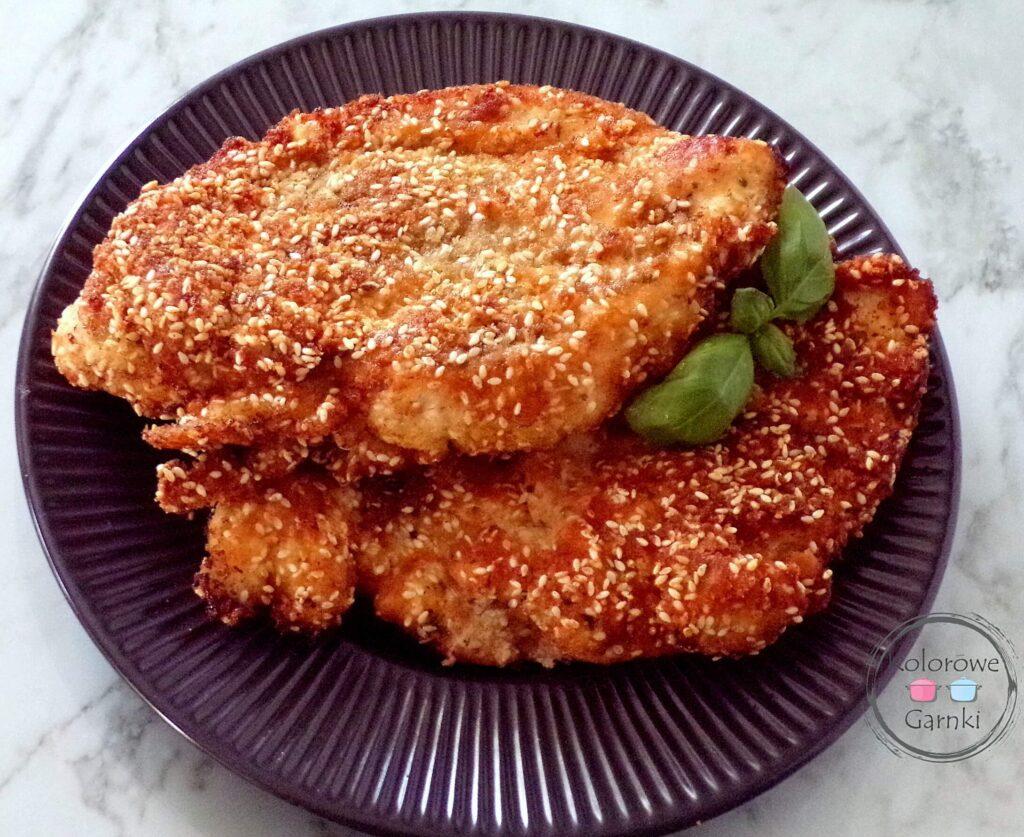 pierś z kurczaka w sezamie