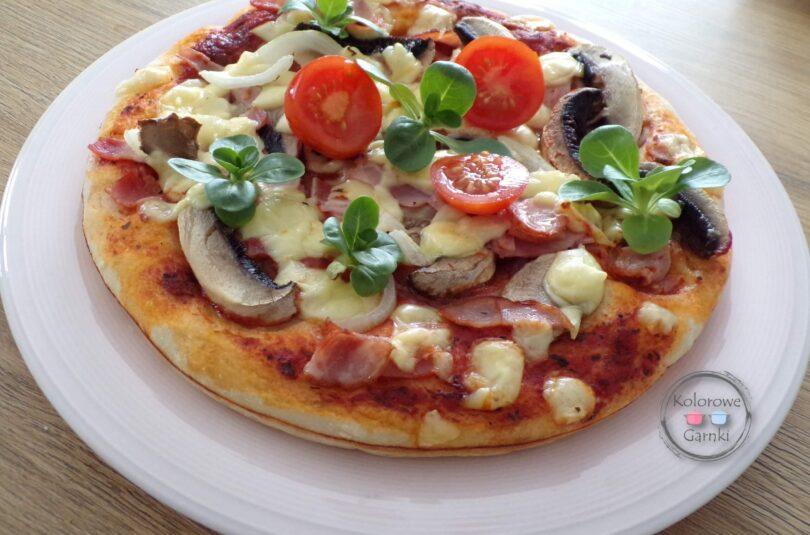 Pizza na grubym cieście- przepis