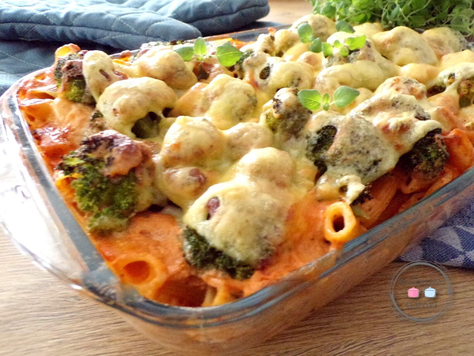 domowa zapiekanka z brokułami