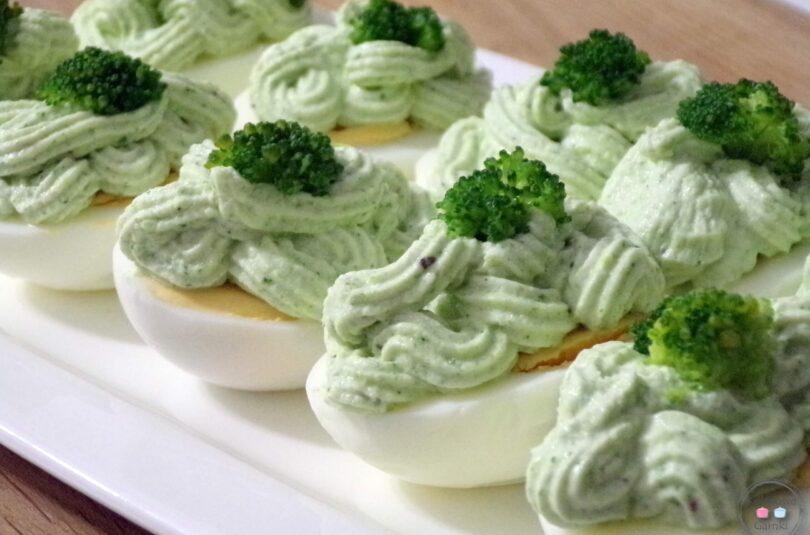 Jajka faszerowane z brokułem