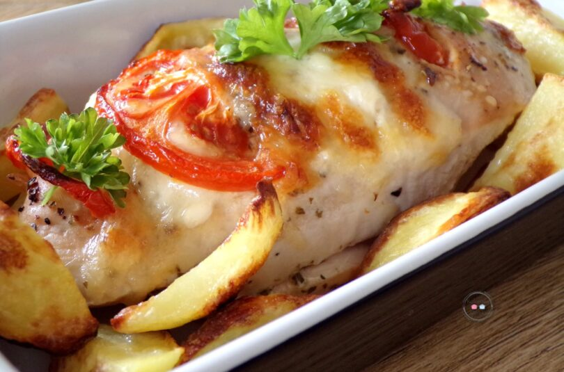 Kurczak z mozzarellą i pomidorami
