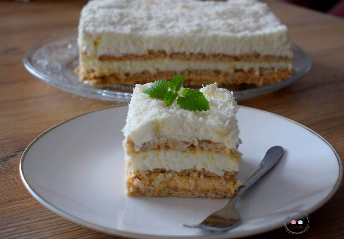 Ciasto kokosowe bez pieczenia