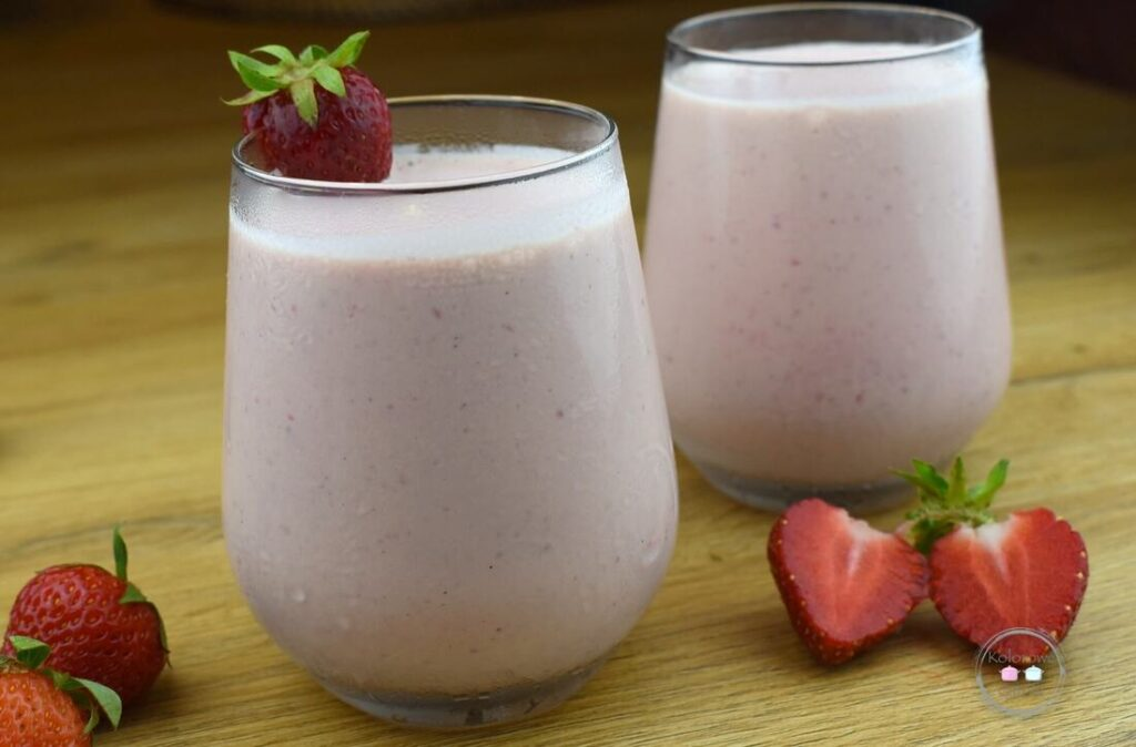 shake truskawkowy